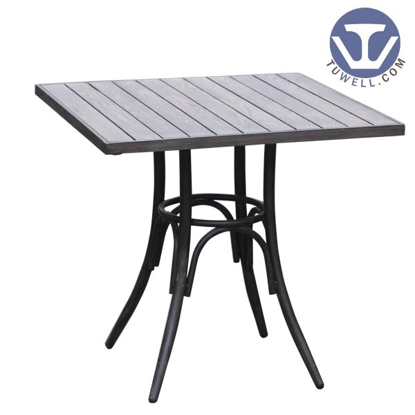 Aluminum wood table