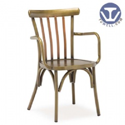 Alu. cross back chair