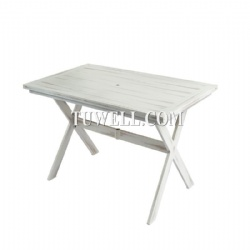 Folding aluminum table
