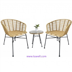 TW7052 Steel Rattan table