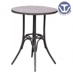 Aluminum wood bar table