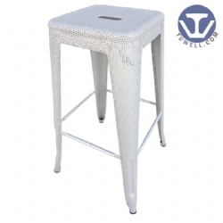Steel barstool with mesh