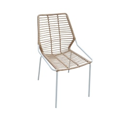 TW8722 stackable Steel Rattan Chair
