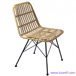 TW8708 Steel rattan chair